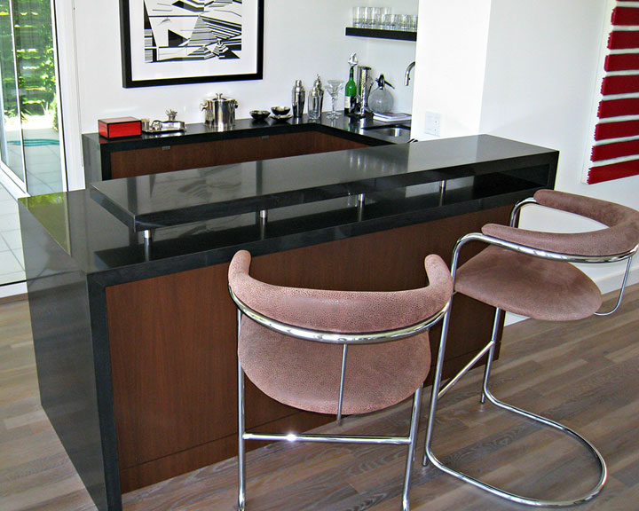Wet Bar designed and built by Cactus, Inc.