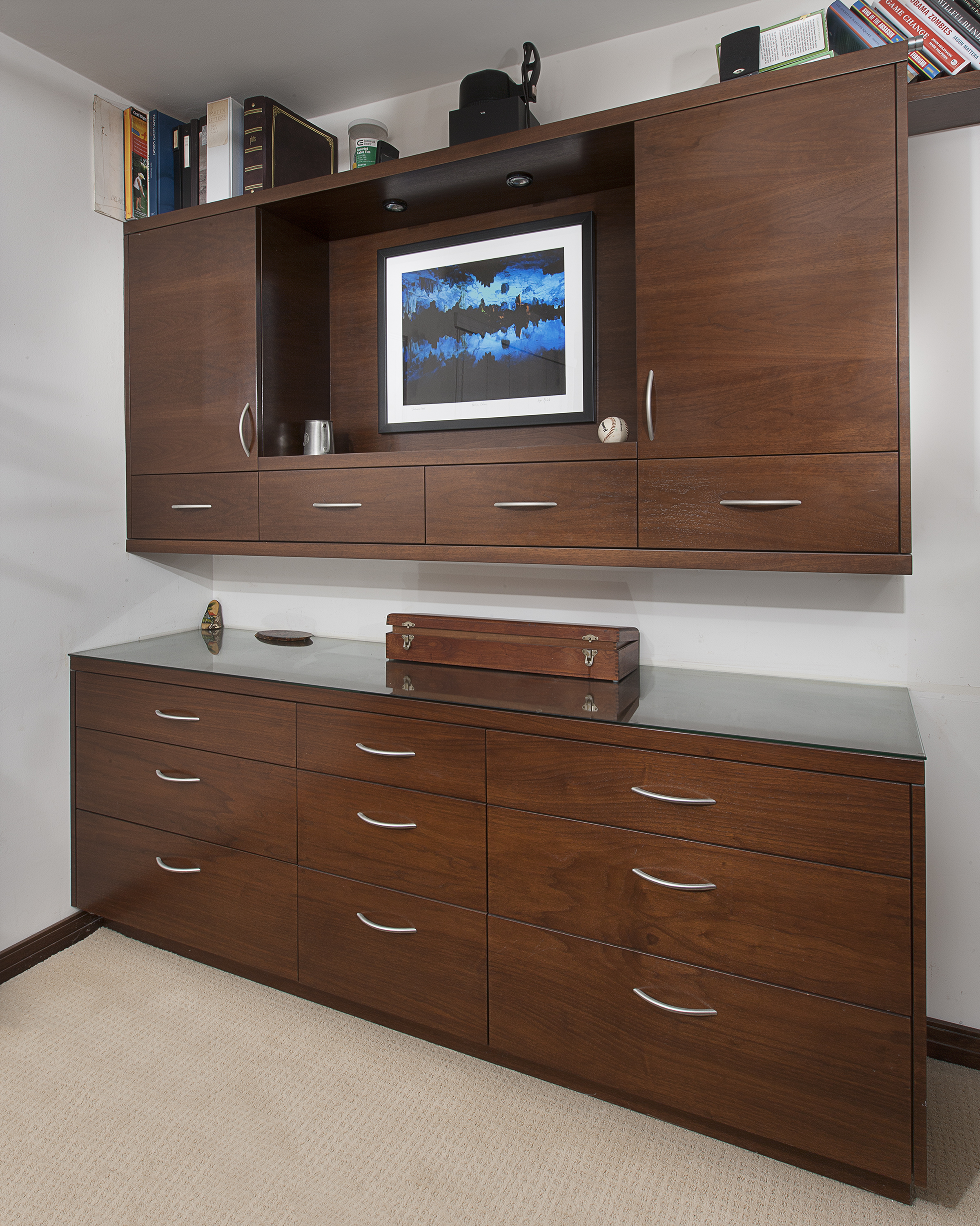 Custom built-in cabinets by Cactus, Inc.