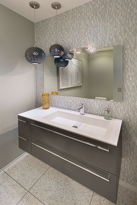 Custom Bathroom Design and cabinets by Cactus Inc.